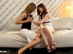 Wanton Maidens by Sapphic Erotica - anal and oral play with Rikki and Judy