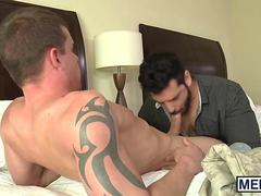 Marcus Ruhl loves riding Darin Silvers rock hard dick