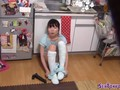Asian slut uses dildo