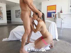 Exotic4k - Cock slips into latina Audrey Charlizes dripping pussy