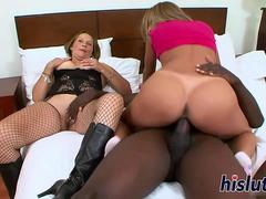 Massive black cock for two horny sluts