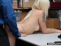 Shoplyfter - Boyfriend Watches His GF Fuck Officer