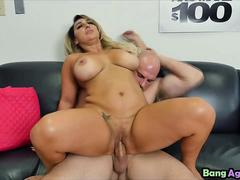Busty blonde slut Nina Kayy fucked hard in office on job interview