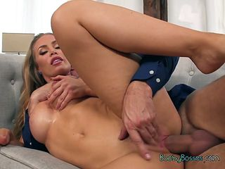 secretary nicole aniston gets fucked and creampied by boss