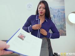 Jasmine Webb In Interview With A Busty Boss