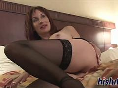 Stunning MILF has her orgasmic pussy plugged