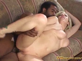 perfect tits blonde slut hungry for black dick anal fuck