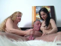 German MILF Teach Petite Teen To Fuck Big Dick Boyfriend