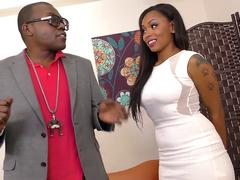 WANKZ- Smoking-Hot Black Goddess Porsha Creampied