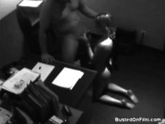 Hot secretary gets facialed by her boss
