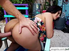Latina Kitty Caprice takes a public fuck for big money