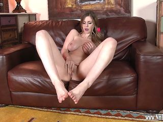 stella cox wants foot sex naked teasing feet encouraging you to jerk off while she masturbates
