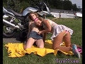 Milf teen strapon Young lezzie biker girls