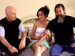 Swinger MILF Tries Her First Threesome