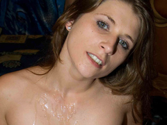 Old broad gets a hot bang from her stallion studs