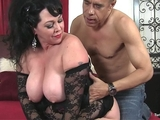 Big tits plumper lady Amanda takes huge cock
