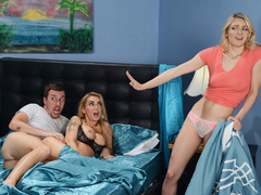 Incredible threesome sex with the hottest pornstars Alli Rae and Devon