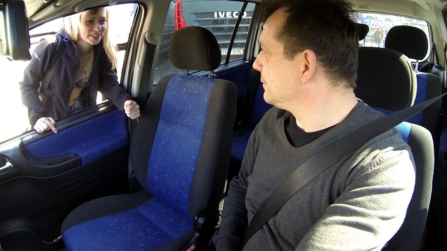 Unbelievable reality strangers voyeurs watching czech taxi