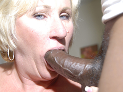 American mature sucks two big black cocks