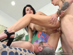 Megan Sage Makes Husband Eat a Load of Cum After Being Fucked