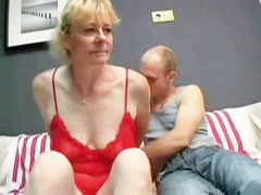 Hairy Granny Prefers Young Dick