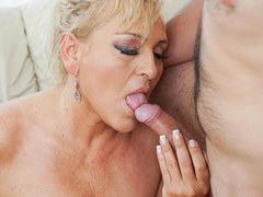Horny kinky granny is keen to get banged by this dude with a colossal member in many positions